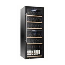 Dual temperature wine cooler