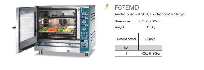 Combi Analogic Oven F67EMD-info